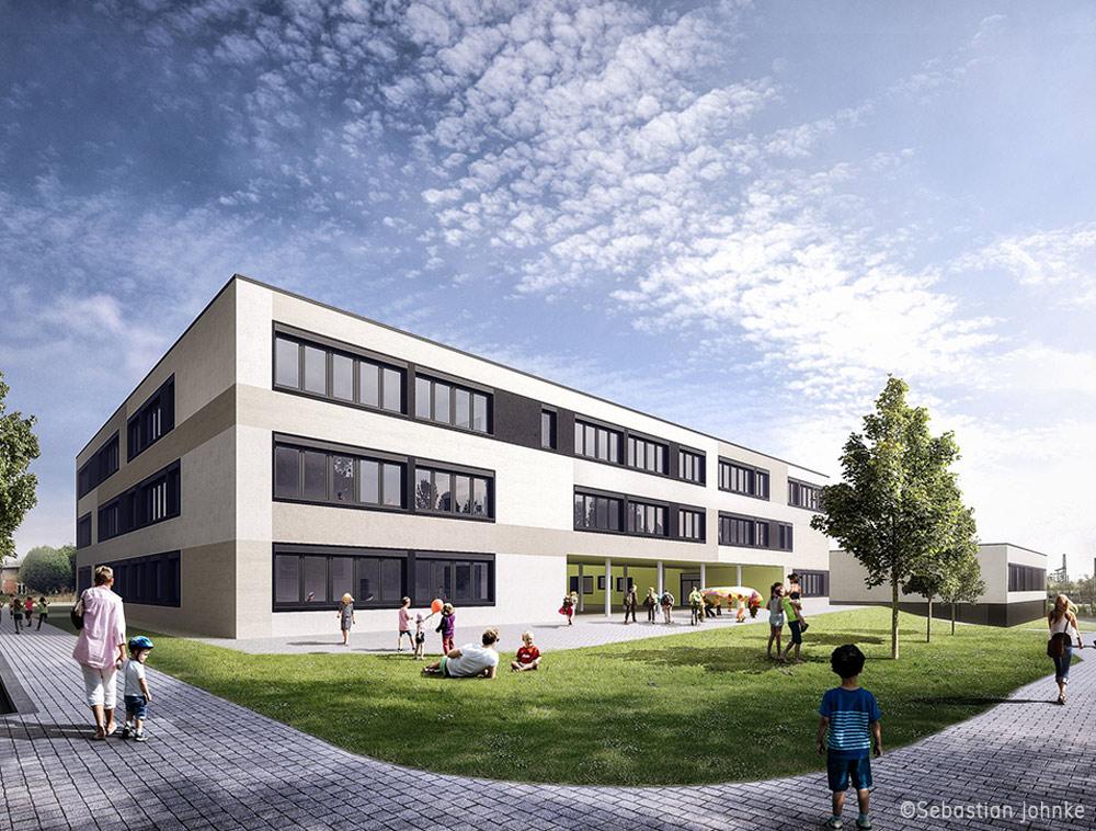 Neubau Gymnasium und Sporthalle in Kassel